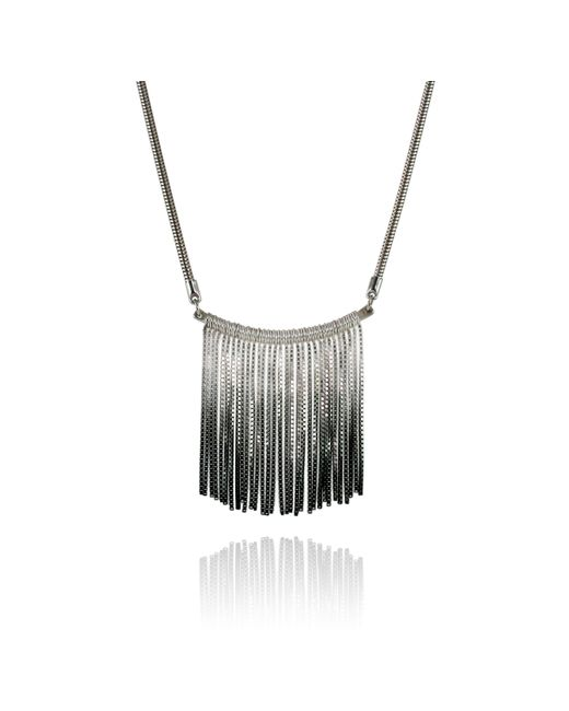 Cara Tonkin | Metallic Vesper Bar Necklace Oxidised Silver | Lyst