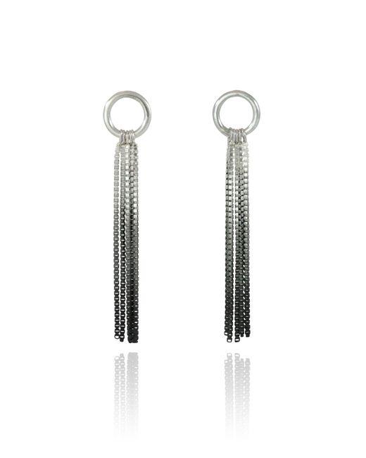 Cara Tonkin | Black Vesper Small Loop Earring Oxidised Silver | Lyst