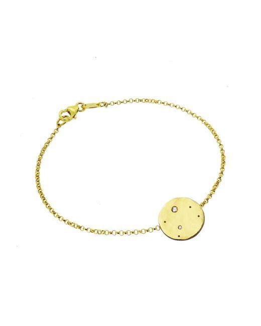 Yvonne Henderson Jewellery - Metallic Libra Constellation Bracelet With White Sapphires Gold - Lyst