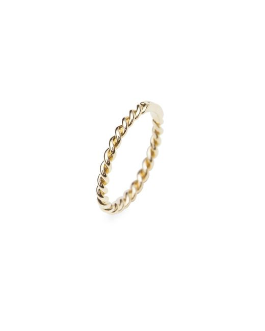 Isabel Lennse - Metallic Extra Thin Ring Twisted Gold - Lyst