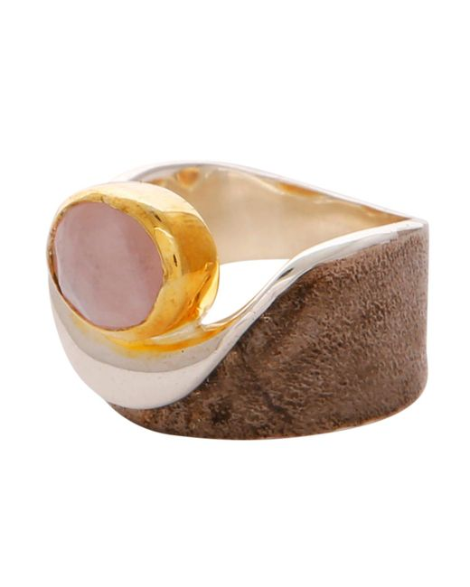 Carousel Jewels - Metallic Rose Quartz Gold & Silver Pocket Ring - Lyst