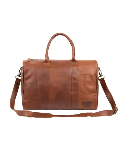 MAHI Leather - Leather Drake Holdall Weekend/overnight Bag In Vintage Brown for Men - Lyst