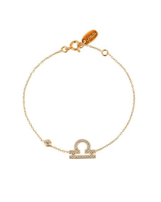 Latelita London | Metallic Zodiac Bracelet Gold Libra | Lyst
