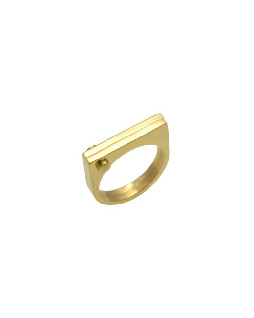 Opes Robur | Metallic Gold D Ring | Lyst
