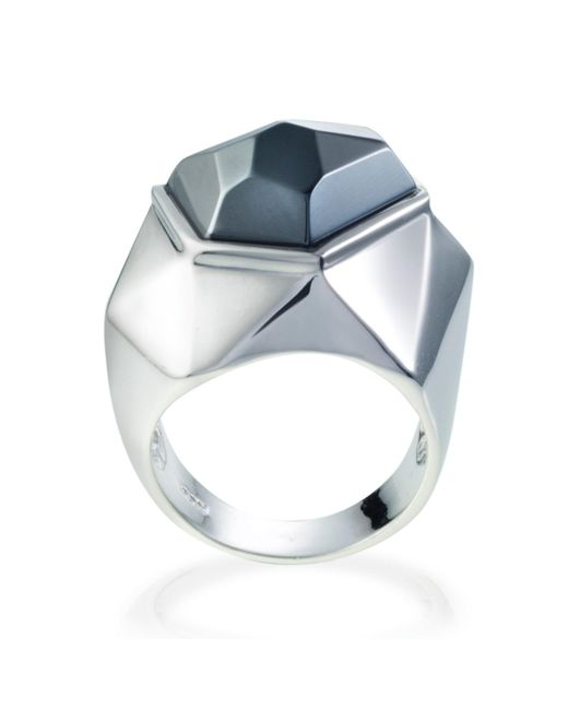 Ona Chan Jewelry | Gray Lattice Cocktail Ring Hematite | Lyst