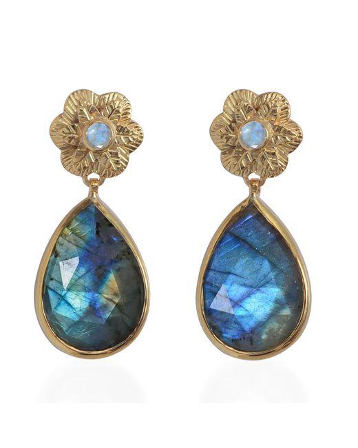 Emma Chapman Jewels | Gray Adila Labradorite Earrings | Lyst