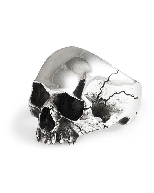 Frederick Grove - Metallic Silver Skull Ring - Lyst