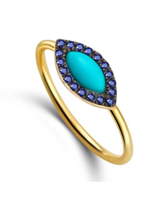 Elham and Issa Jewellery   Blue Awe Eye Sapphire Ring   Lyst