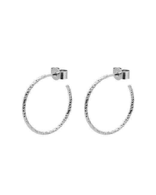 Myia Bonner - Metallic Silver Medium Diamond Hoop Earrings - Lyst