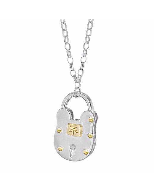 True Rocks - Metallic Large Padlock Two Tone Necklace - Lyst