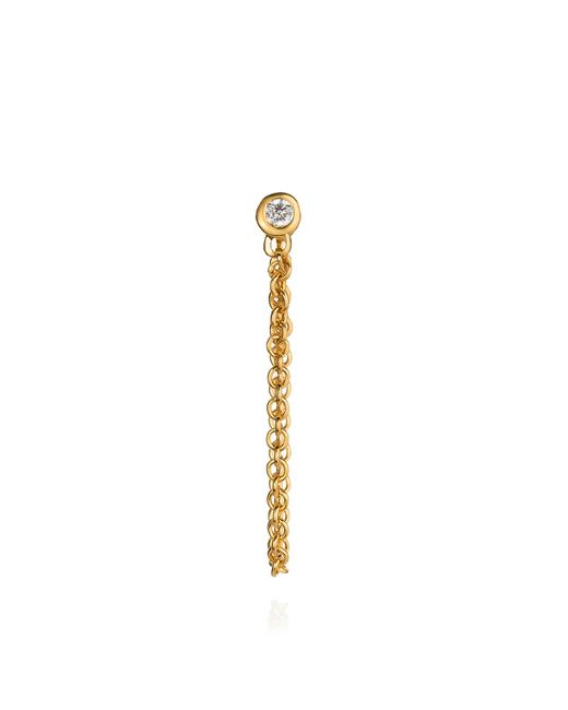 Lee Renee - Metallic Diamond And Chain Stud Earring - Lyst