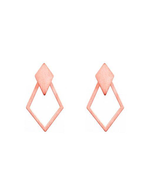 Dutch Basics - Multicolor Ruit Detachable Drop Earrings Rose Gold - Lyst