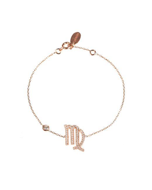 Latelita London - Metallic Zodiac Bracelet Rosegold Virgo - Lyst