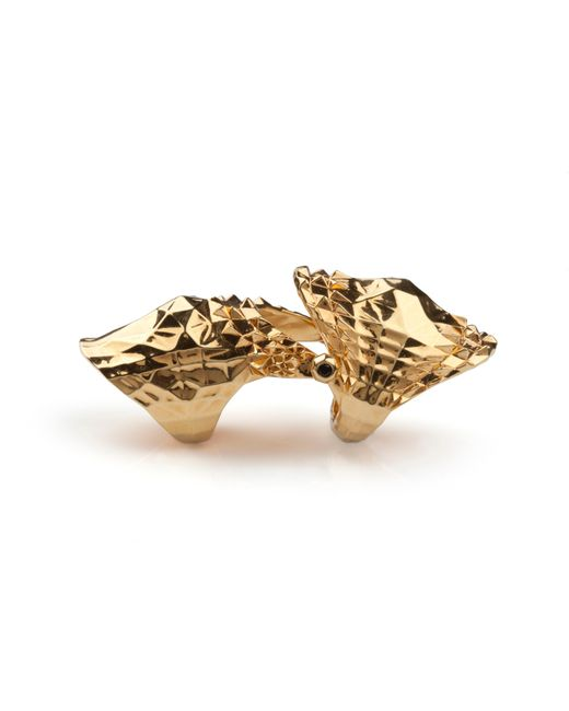 Kasun | Metallic Armour Ring Gold | Lyst
