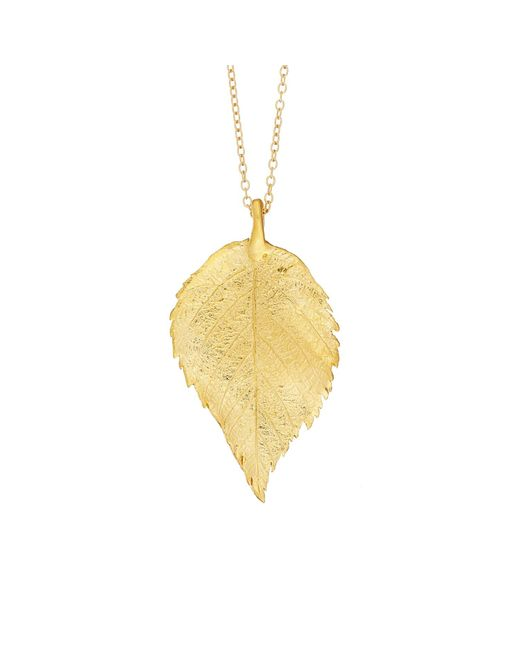 Chupi | Metallic Maxi Raspberry Leaf Necklace Gold | Lyst