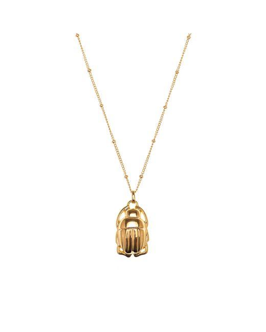Nina Kastens Jewelry | Metallic Mini Scarab Necklace Gold | Lyst