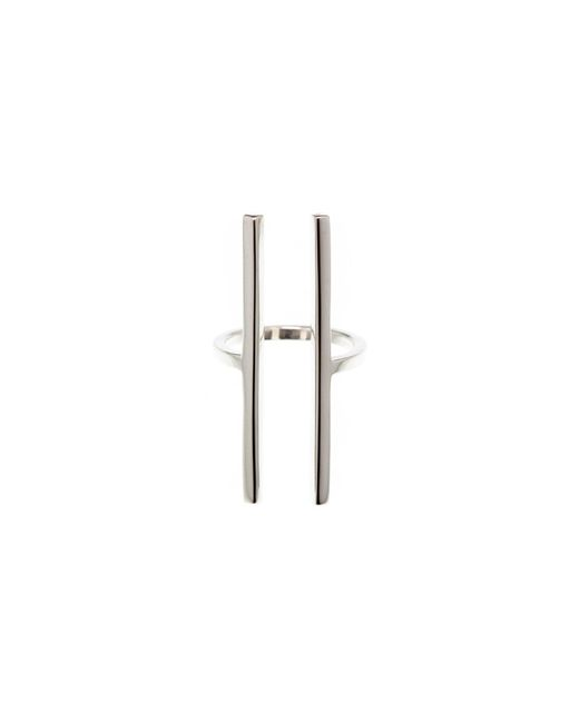 Nina Kastens Jewelry | Metallic Initial Ring Silver | Lyst
