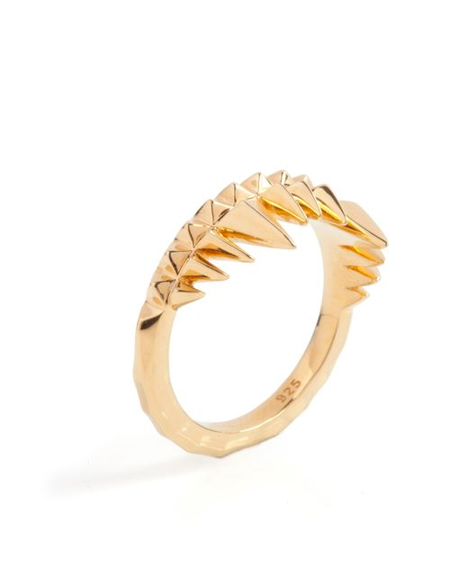 Kasun | Metallic Crocodile Bite Ring Gold | Lyst