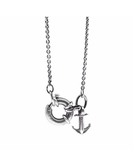 Anchor & Crew | Metallic Silver Windlass Tyne Pulley Necklace Pendant for Men | Lyst