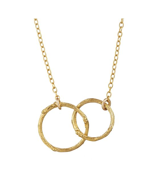 Chupi - Metallic Just The Two Of Us Hawthorn Twig Circle Necklace In Gold - Lyst