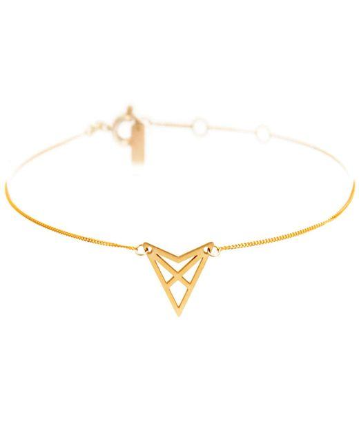 Dutch Basics | Metallic Hef Fine Chain Bracelet Gold | Lyst