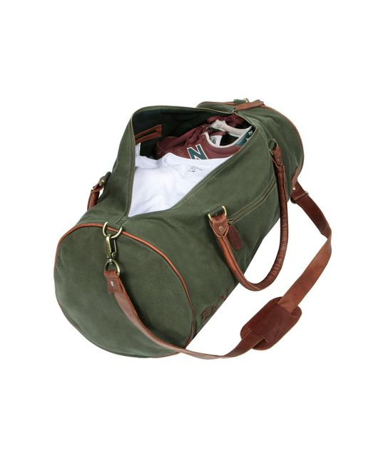 de4dad435ecb ... MAHI Leather - Gym Duffle In Green Canvas And Brown Leather for Men -  Lyst ...