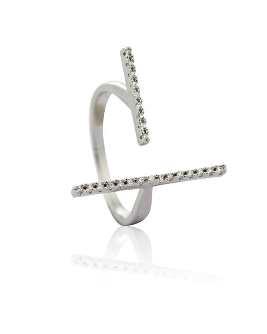 Astrid & Miyu | Metallic My Best Angle Ring Silver | Lyst