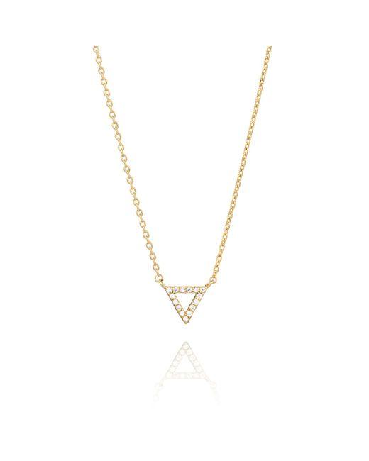 Astrid & Miyu | Metallic Tuxedo Triangle Necklace Gold | Lyst