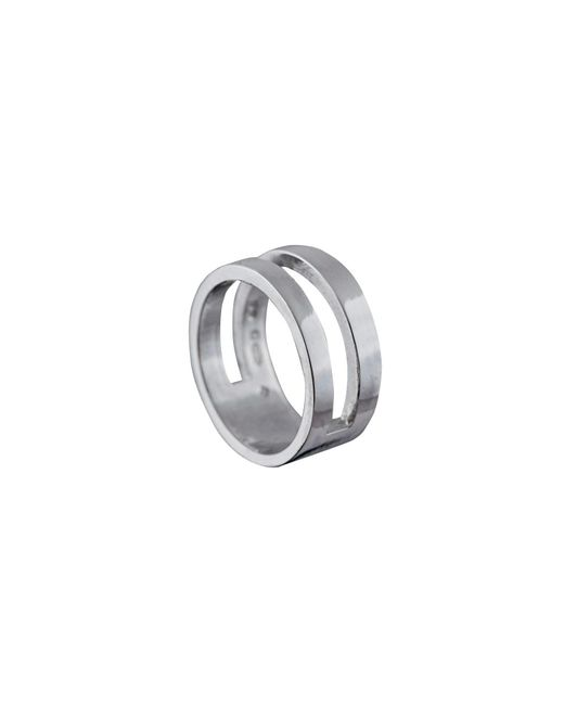 Edge Only | Metallic Parallel Ring Silver | Lyst
