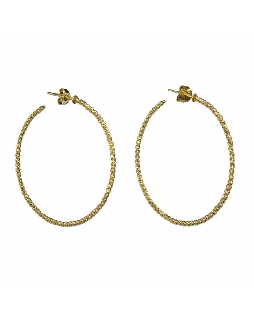 Talia Naomi | Metallic Beluga Hooped Earrings Gold | Lyst