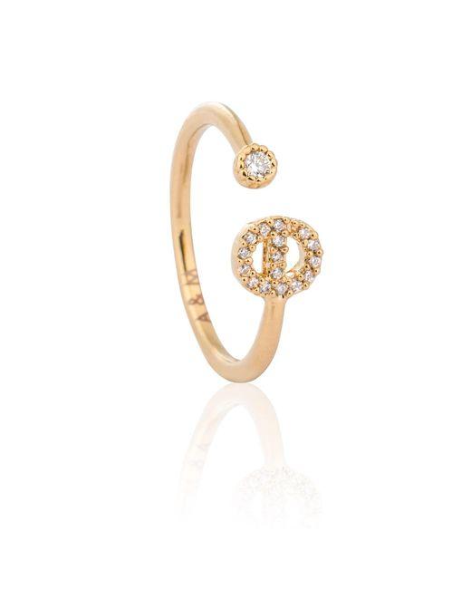 Astrid & Miyu | Metallic Gold Initial E Ring | Lyst