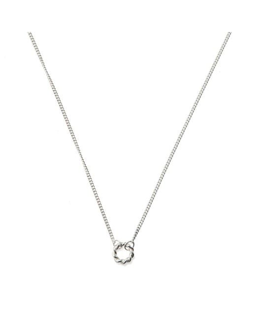 Isabel Lennse   Metallic Extra Small Twisted Circle Necklace   Lyst