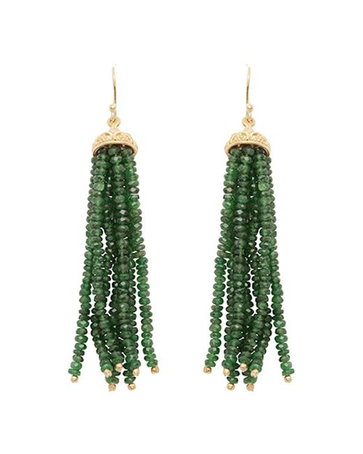 Carousel Jewels - Multicolor Gold & Chrysoprase Waterfall Earrings - Lyst