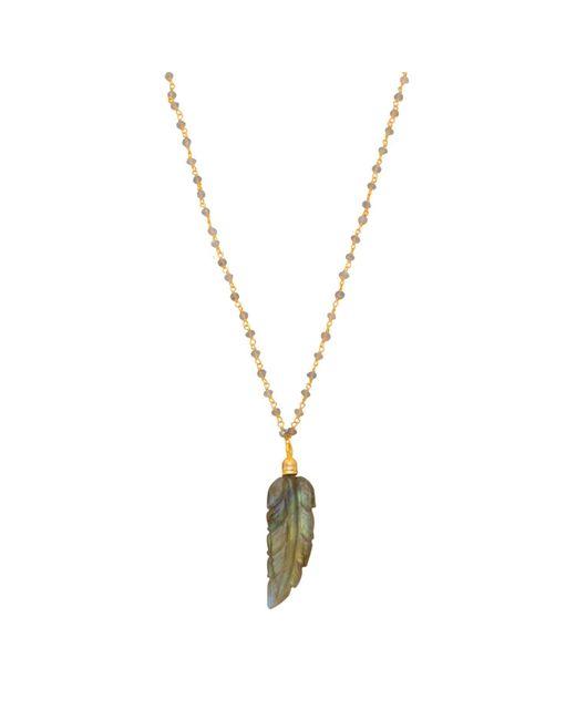 Carousel Jewels - Multicolor Labradorite Feather Necklace - Lyst