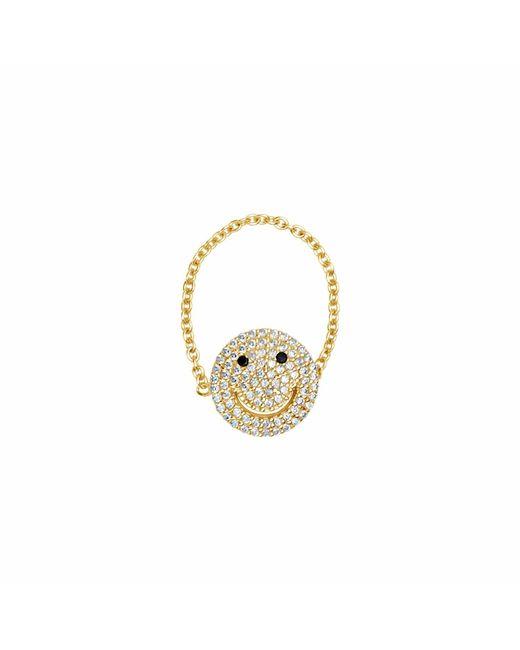 Talia Naomi | Metallic Why So Serious Chain Ring Gold | Lyst