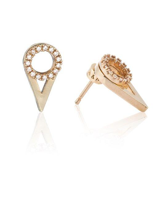 Astrid & Miyu | Metallic Circle Ear Jacket In Gold | Lyst