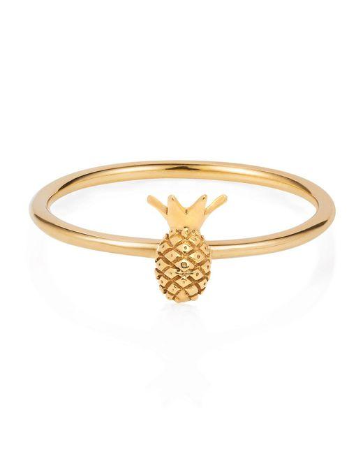 Lee Renee - Metallic Tiny Pineapple Ring Gold Vermeil - Lyst