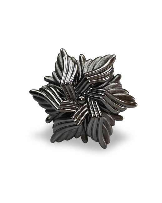 Bellus Domina - Gray Geometric Sea Flower Ring - Lyst