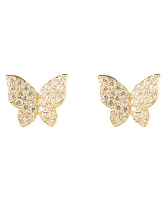 Latelita London - Metallic Butterfly Earring Gold - Lyst