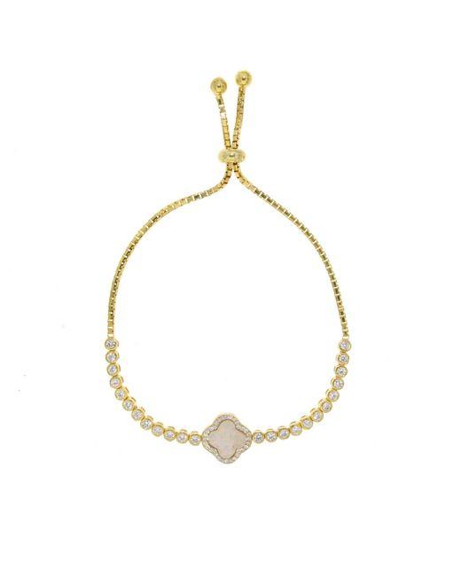 Cosanuova | Metallic Gold Opal Clover Bracelet | Lyst