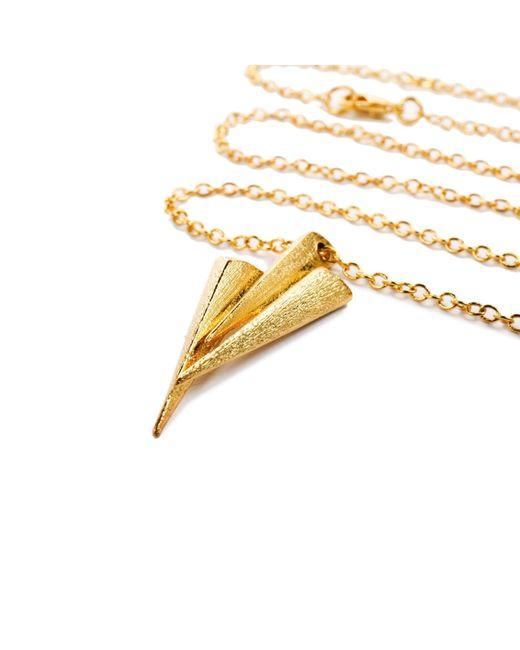 Ona Chan Jewelry | Metallic Three Dagger Necklace Gold | Lyst