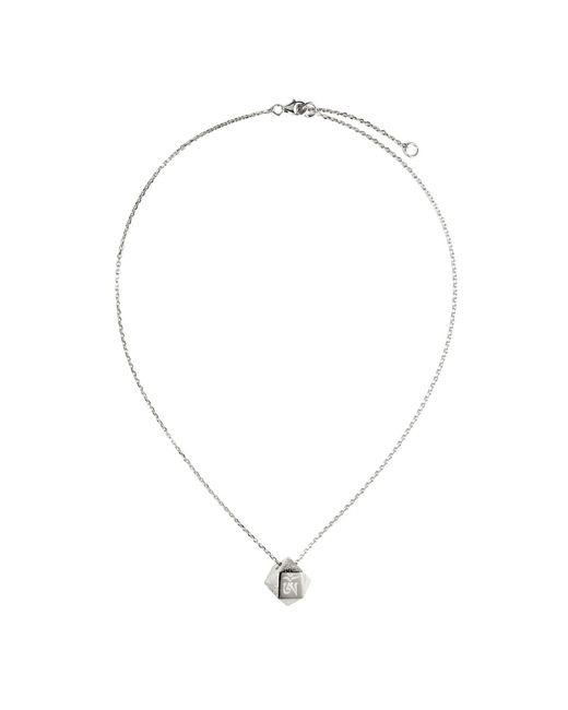 Ona Chan Jewelry | Metallic Mantra Cube Necklace Silver | Lyst
