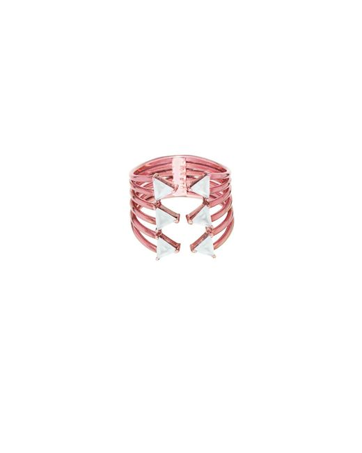 Tada & Toy | Metallic Triple Shark Fin Ring | Lyst