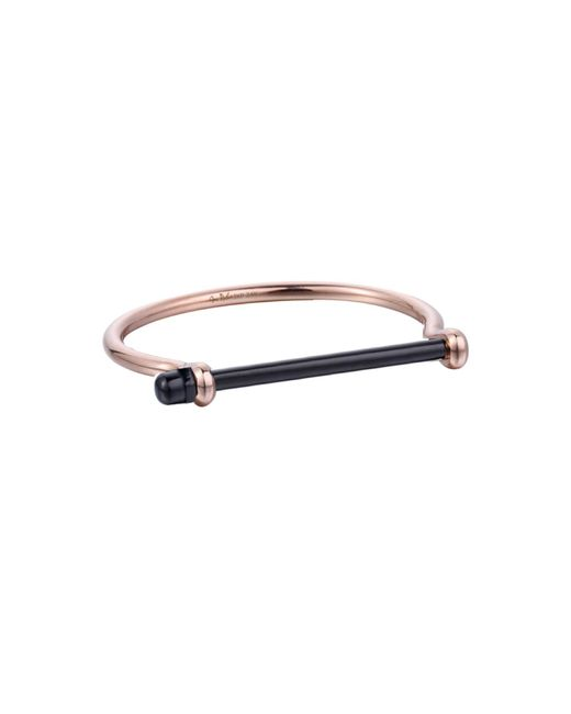 Opes Robur - Metallic Rose Gold & Black Bracelet - Lyst
