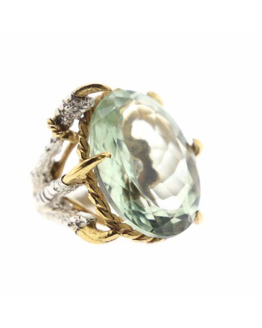 Tessa Metcalfe | Metallic Green Quartz Deborah Ring | Lyst