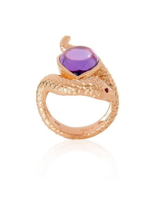 Alexandra Alberta | Pink Arizona Amethyst Ring | Lyst