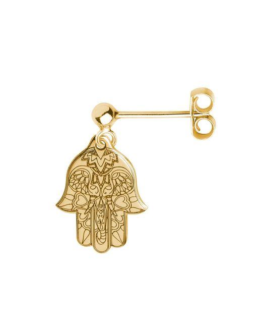 CarterGore - Metallic Gold Hamsa Hand Single Short Drop Earring - Lyst
