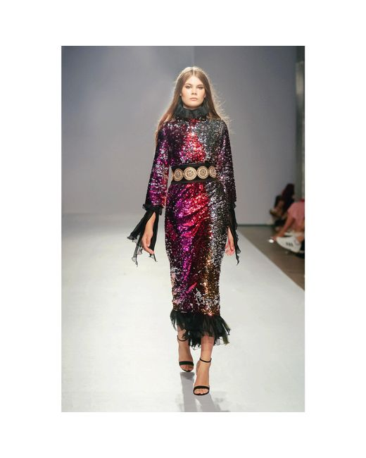 f7c63c75b41 ... Jiri Kalfar - Red Reversible Sequins Dress - Lyst