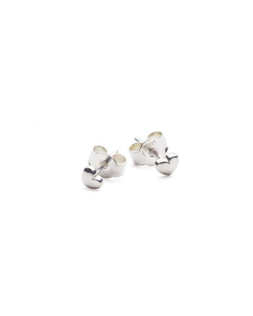 Isabel Lennse - Metallic Mini Heart Earrings - Lyst