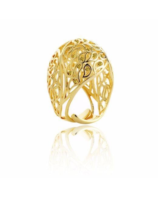 Sonal Bhaskaran | Metallic Shikhara Gold Dome Ring Yellow Cz | Lyst